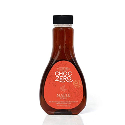 ChocZero#039s Maple Syrup Sugar free Low Carb Sugar Alcohol free Gluten Free No preservatives NonGMO Dessert and Breakfast Topping Syrup 1 Bottle12oz