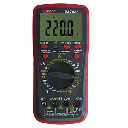 NINGXUE-MAOY Digitales PH-Messgerät UA78A + Kunststoffschalen-Ohmmeter AC DC-Test-Digitalmultimeter