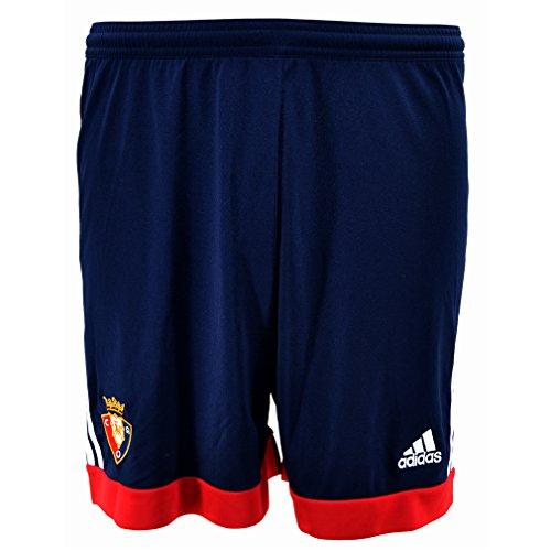 adidas Home Short - Pantalón Corto Atletico Osasuna 1ª equipación 2015/2016 para Hombre, Color Azul/Rojo, Talla 116