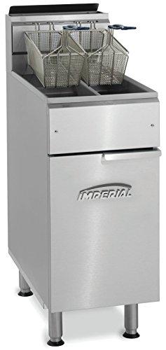 Imperial ifs-2525/N doble tanque cesta Natural Gas freidora, 2x 14L