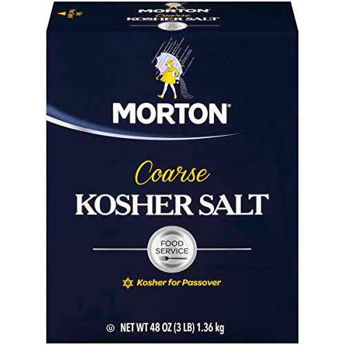 Morton Salt Kosher Salt, Coarse, Food Service, 48 Ounce