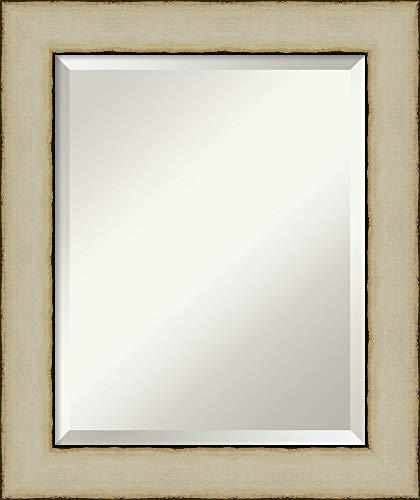 Framed Vanity Mirror   Bathroom Mirrors for Wall   Rusted Cream Mirror -