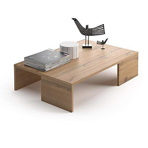 Mobili Fiver, Tavolino da Salotto, Rachele, Rovere Rustico, 90 x 60 x 21 cm, Nobilitato, Made in Italy, Disponibile in Vari Colori