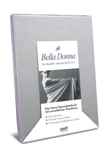 Hoeslaken Bella Donna Jersey voor matrassen en waterbed 90-100 x 190-220 cm in lichtgrijs