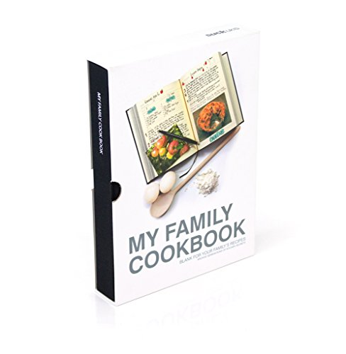 Suck UK  - Cuaderno para recetas de cocina, color negro