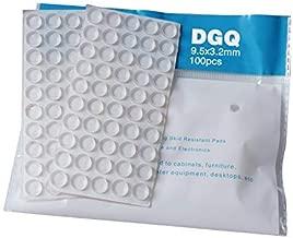 "Sound Dampening Door Bumpers 100 Counts 1/2"" Diameter for Door & Drawer Cabinet Furniture by DGQ (Cylindrical-3/8 Inch)"