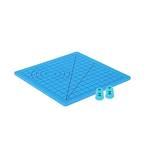kuou 3D Pen Mat, Silicone 3D Basic Template Printing Mat with 2 Finger Protectors, Gift for 3D Beginners/Kids/Adults