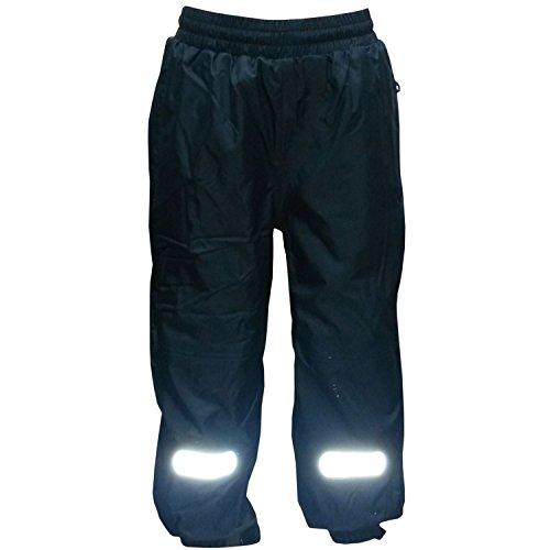Outburst - Jongens regenbroek matschbroek skibroek fleece voering waterdicht, donkerblauw, maat 110
