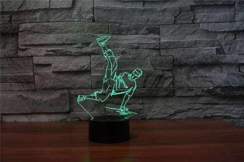 Jinson well 3d Hip pop Dancer lámpara de mesa luz nocturna cambio de 7 colores LED luz de noche para Decor Regalo