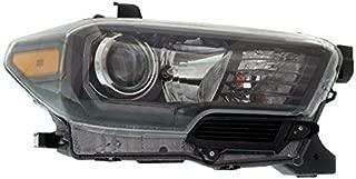 Partomotive For CAPA 17-19 Tacoma Front Headlight Headlamp w/LED DRL Head Light Lamp Right Side
