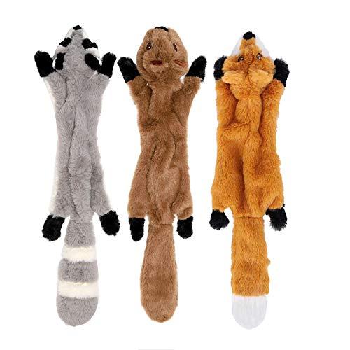 Yami 3 Paquetes Perro Squeaky Masticar Juguetes Sin Relleno de Juguetes para Perros Plush Animal Dog Toys para Pequeño Perro Mediano ⭐
