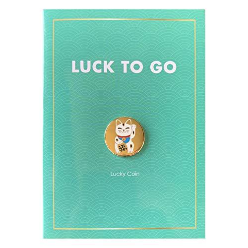 Moneda de la suerte Luck to go   Gato de la suerte   Pequeño amuleto de la suerte para regalar   Tarjeta de felicitación de buena suerte   Gat