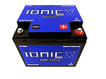 Ionic Lithium Ion Deep Cycle Battery 12V50-EP - 12V 50Ah with Built in Bluetooth monitoring