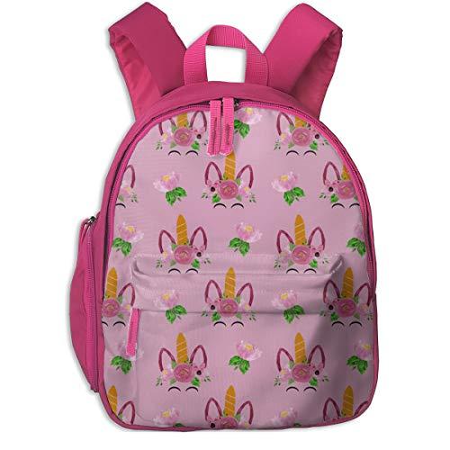 Zaino per bambini 2 anni,Unicorn Pink_5986 - attic_15127, Per scuole per bambini Oxford cloth (rosa)