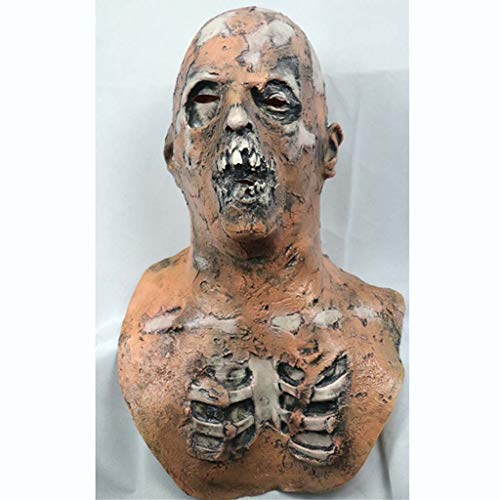NLBZ Halloween Horror Maske Rotten Zombie Latex Scary Zombie-Teufel-Kopf-Abdeckung Partei Props-Erwachsen-Kostüm Cosplay Maske