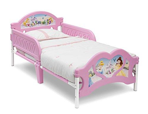 Deltac Princess 3D Cama Primera Infancia, Metal, Rosa