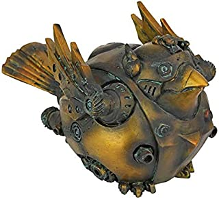 Design Toscano Bird of Steampunk-iness Armor Clad by Artist Liam Manchester Statue, Antique Gold