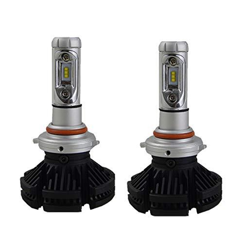 Kit ampoule de phare LED, perle de lampe CSP 6000LM 50W IP67 6000K alliage d'aluminium d'aviation 6063 jusqu'à 5000H d'éclairage, 2PC,H7