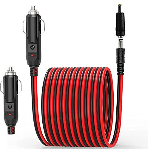 RUNCCI-YUN Voiture Allume-Cigare câble d'extension 12 V, Prise mâle de l'allumeur de Cigarette de Voiture de 12-24V 4FT à CC 5.5mm x 2.1mm / 4.0mm x1.7mm Cordon de connecteur pour Lecteur DVD