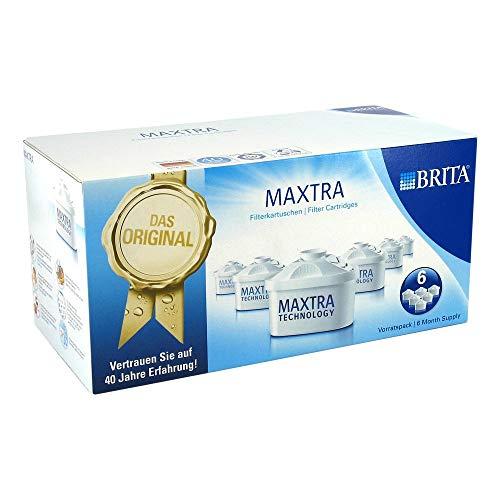 Brita Maxtra Confezione Filtri per Caraffa, Plastica, Bianco, 6 Filtri