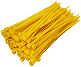 Zeuxs 100 X Yellow Cable Ties 100Mm X 2.5Mm Zip Tie Bases All Sizes