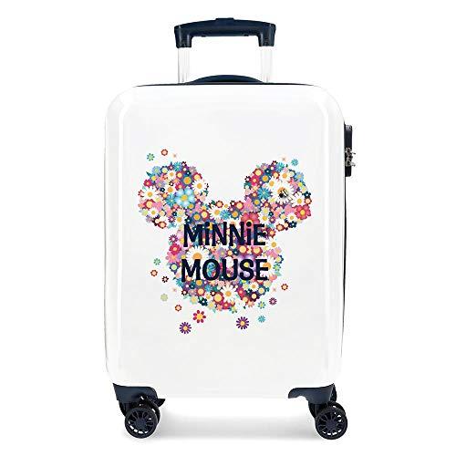 Disney Minnie Sunny Day Maleta de cabina Azul 37x55x20 cms Rígida ABS Cierre combinación 34L 2,6Kgs 4 Ruedas dobles Equipaje de Mano
