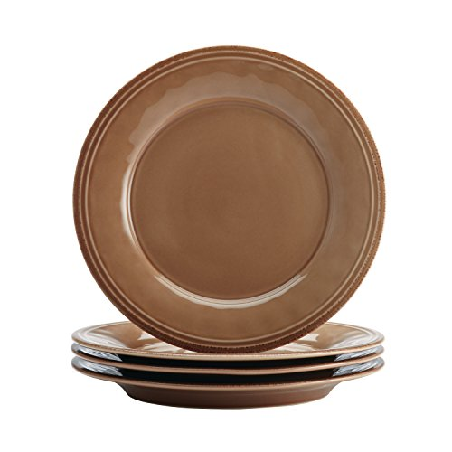 Rachael Ray Cucina Dinnerware 16-Piece Stoneware Dinnerware Set, Mushroom Brown