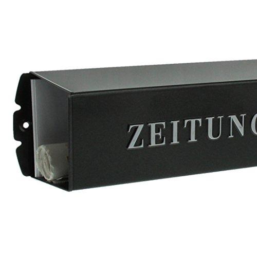 BURG-WÄCHTER, Zeitungsbox mit geprägeter Schrift, Metall, 808 E, Eisen - 4