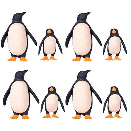 TOYANDONA 8pcs Pinguin Figuren Miniatur Papa Pinguin und Baby Pinguin Realistische Antarktische Tierfiguren Modell Kinder Pädagogisches Lernspielzeug Aquarium Haus Dekoration Weihnachten Geschenk