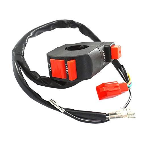 SHENLIJUAN 7/8 '' de 22 mm Interruptor de Control del Manillar de Encendido Interruptor de Inicio Off Conjunto del Interruptor del Motor