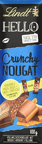 Lindt & Sprüngli Hello, Crunchy Nougat Tafel (1 x 100 g)