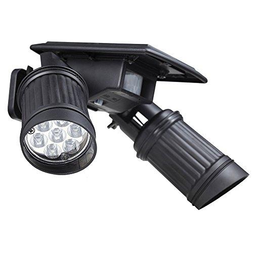14 LED solarlamp voor buiten, waterdicht, 40 lumen, buitenlamp, draadloos, 120 ° groothoek, verstelbaar, met bewegingsmelder en zonnepaneel