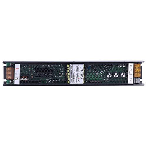 SALUTUYA Fuente de alimentación LED Regulable PWM Fuente de alimentación Regulable Triac Anti-relámpago para LED de Interior para Tiras de luz(12V 12.5A)