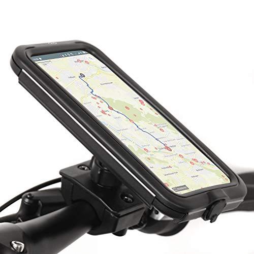 Wicked Chili Tour Case Compatible con iPhone 12 Pro MAX, Samsung Galaxy 21, S20 FE, M31, A51 y Powerbank - Soporte Universal de móvil Impermeable para Bici y Moto (tamaño máx.: 16 x 7,7 x 1,2 cm)