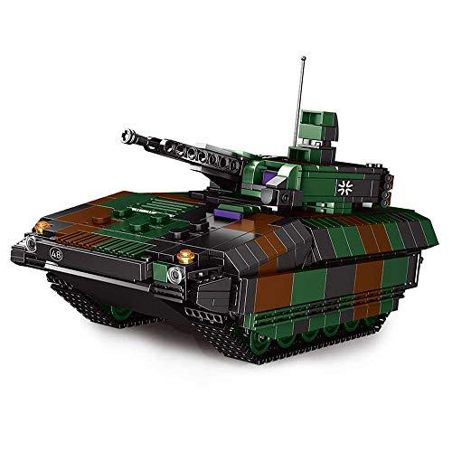 Brigamo Bausteine Panzer Puma Schützenpanzer, 1238 Klemmbausteine, Konstruktionsspielzeug