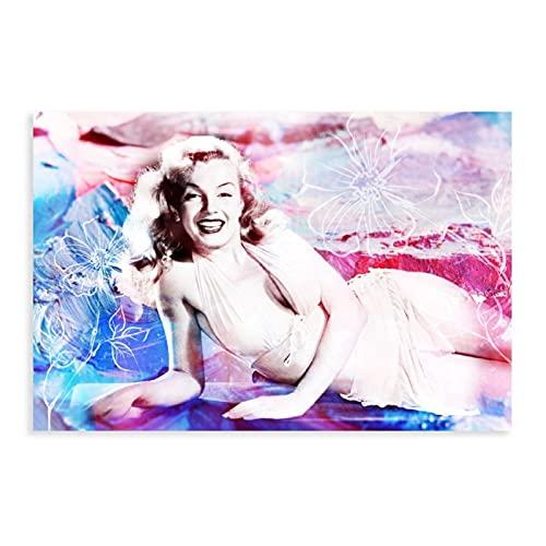 Marilyn Monroe - Póster decorativo para pared, diseño de vestido y novia, color blanco, para salón, dormitorio, 50 x 75 cm, estilo unframe-1