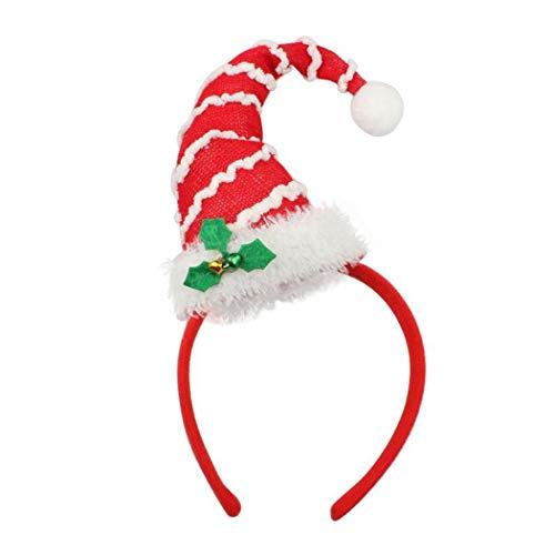 Zoylink Bandeau Chapeau De Noël Bandeau De Fête Cerceau De Cheveux Santa Hat Decor pour Femmes