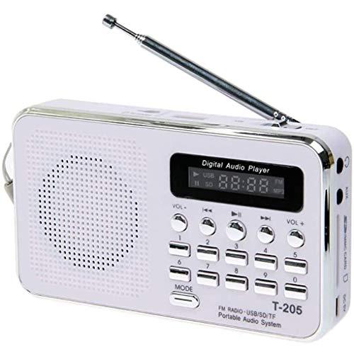ZBQLKM Radio FM Digital, radios portátiles, Reproductor de música MP3 Support Micro SD/TF Tarjeta Reproducción de Entrada AUX Pantalla LED de Altavoz para Jogging Waliking y Viajar