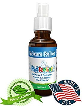 PET RELIEF Dog Seizure Relief, Safe & Natural Dogs with Seizures Epilepsy Spray,! 30ml Seizure Relief for Dogs, Better Than Medication, No Side Effects! Made in USA