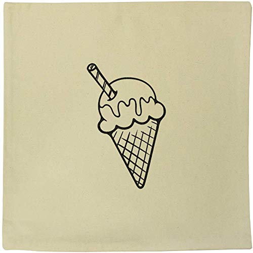 Azeeda 40cm x 40cm 'Ice Cream Cone' Canvas Cushion Cover (CV00017988)