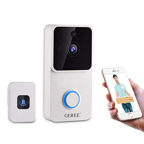 GEREE Wireless Video Doorbell 1080p HD Smart