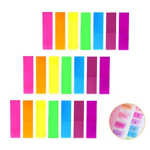 Kitchen-dream Notas adhesivas fluorescentes, 1120 piezas de notas adhesivas, marcadores de página de neón, marcador de página de neón fluorescente, marcadores, tiras de texto resaltado