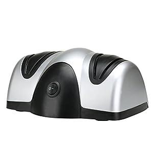 OUNONA Afilador de cuchillos eléctrico profesional para tijeras y accesorios de cocina 4 lados