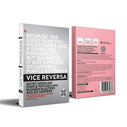 VICE REVERSA Micro naald-pleister | Nieuwe Koreaanse technologie | 8 wegwerp oplosbare pleisters | tegen onzuiverheden & voorkomt uitbarstingen, snel met groene thee, salicylzuur & hyaluronzuur