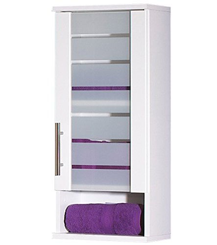 lifestyle4living Oberschrank mit Korpus und Fronten in weiß mit 1 Tür, 1 Nische und 1 Einlegeboden, Maße: B/H/T ca. 30/70/20,5 cm