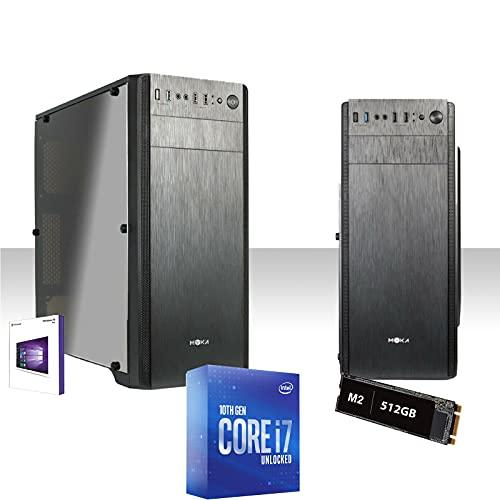 Pc Desktop Intel I7-10700 4,8Ghz Ram 16Gb Ddr4 Ssd M2 512Gb Scheda Grafica Integrata Hdmi,Ufficio,Licenza Windows 10Pro