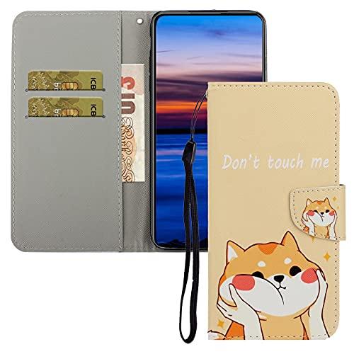 Kompatibel mit Samsung Galaxy J4 Plus Hülle Leder Flip Handyhülle Schutzhülle Tasche Hülle mit Standfunktion & Magnet Kartenfach Schutzhülle für Galaxy J4 Plus XC:Cute Dog