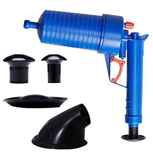 Huiben Rohrleitungs-Saugglocke für den Haushalt, Hochdruck, manueller Dredge WC-Bodenablauf Dredge Abwasserrohr Dredge Maschine für Küche, Bad, Dredge Rohr, Abwasserrohr Blau