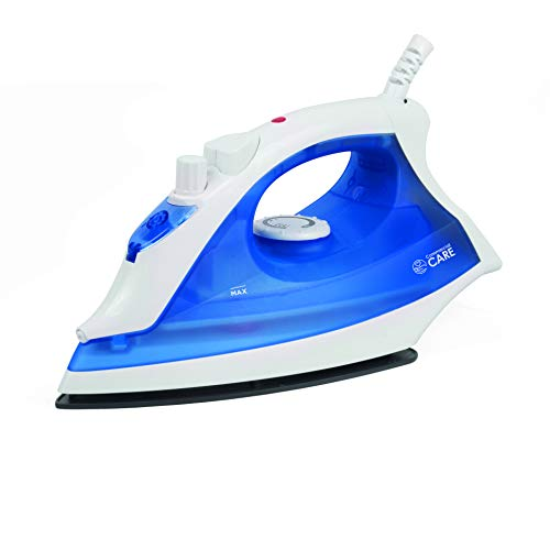 Commercial Care 1200 Watts Steam Iron, Blue