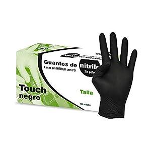Kiepe Guantes Nitrilo Touch Negro, Pequeño – 100 Unidades